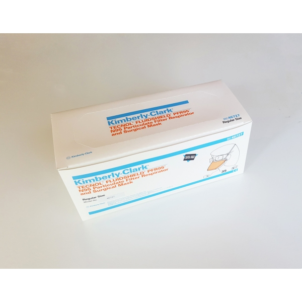 Kimberly-Clark Fluidshield NIOSH N95 Surgical Masks 46727 ASTM Level 3