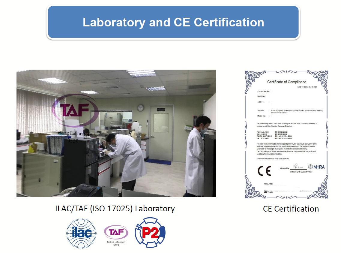 Covid 19 CE Test Lab in Taiwan